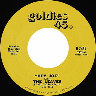 leaves single goldies 45 hey joe