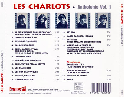 les charlots cd anthologie volume 1 tray