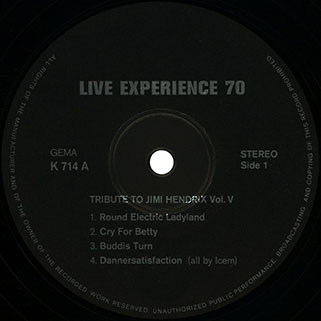 live experience 70 lp tribute to jimi hendrix label 1