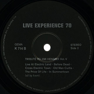 live experience 70 lp tribute to jimi hendrix label 2