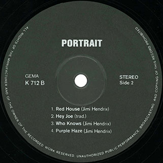 live experience band lp portrait label 2