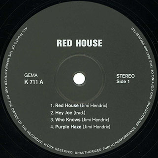 live experience lp red house label 1
