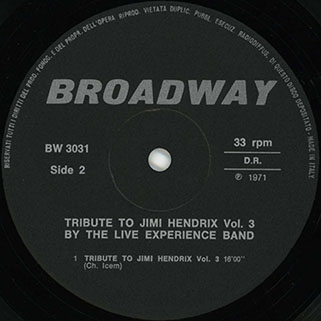 live experience lp tribute to jimi hendrix vol 3 label 2