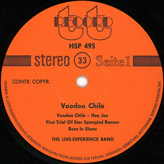 live experience band voodoo chile label 1