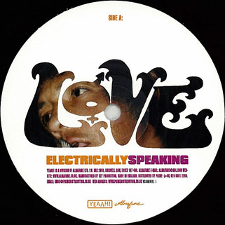 love lp electrically speaking label 1