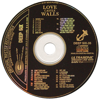 love cd the last wall of the castle label