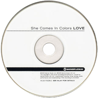 love cd she comes in colors label