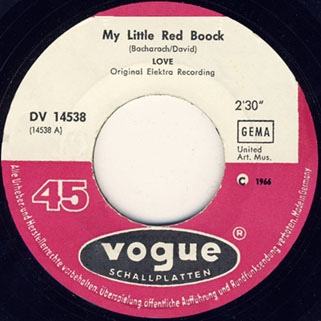 love german single my little red book and hey joe label 1