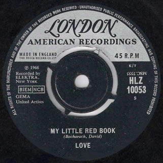 love uk single my little red book and hey joe label 1