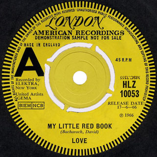 love uk single promo my little red book and hey joe label 1