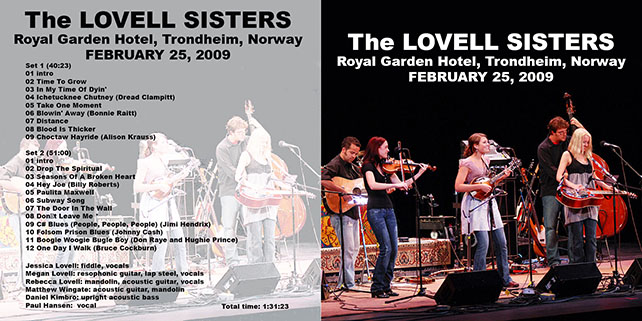 lovell sisters royal garden hotel trondheim norway february 25, 2009 cover