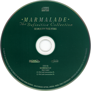 marmalade cd definitive collection castle ccscd 436 label