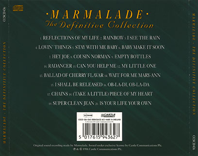 marmalade cd definitive collection castle ccscd 436 tray