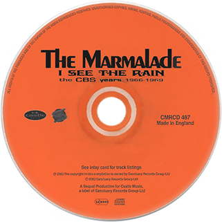 marmalade cd i see the rain castle label