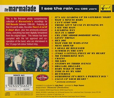 marmalade cd i see the rain sequel tray