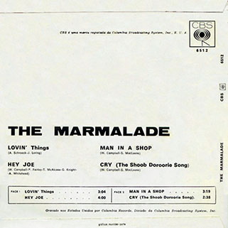 marmalade ep cbs portugal lovin' things - hey joe back