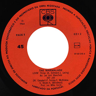 marmalade ep cbs portugal lovin' things - hey joe label 1