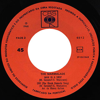 marmalade ep cbs portugal lovin' things - hey joe label 2