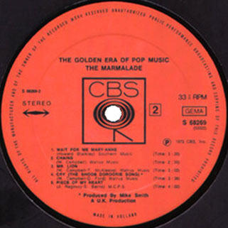 marmalade lp golden era of pop music label 2