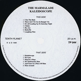 marmalade lp kaleidoscope tenth planet label 1