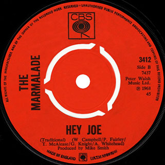 marmalade single cbs 2 uk label hey joe