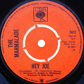 marmalade single cbs uk 1 label hey joe