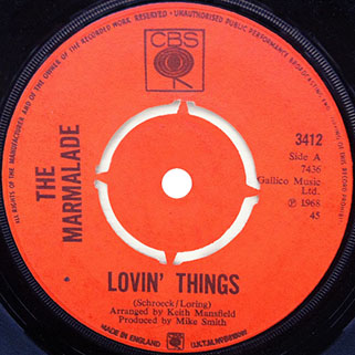marmalade single cbs 1 uk label lovin'things