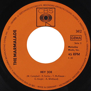 marmalade single cbs germany label hey joe