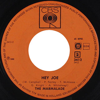 marmalade single cbs holland label hey joe