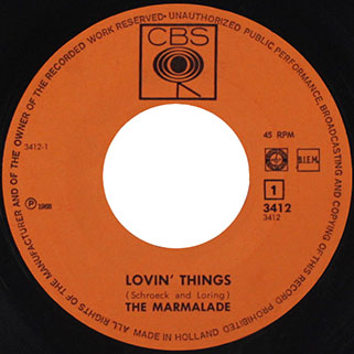 marmalade single cbs holland label lovin' things