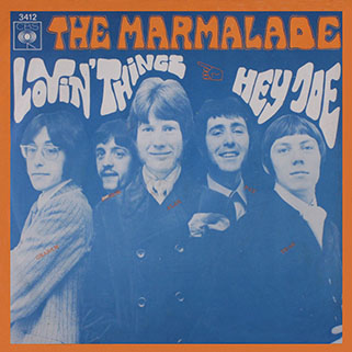 marmalade single cbs holland lovin' things - hey joe front