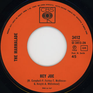 marmalade single cbs italy label hey joe