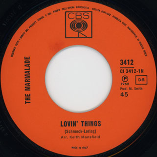 marmalade single cbs italy label lovin' things