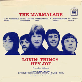 marmalade single cbs italy lovin' things - hey joe back