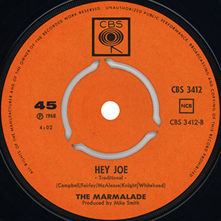 marmalade single cbs norway label hey joe