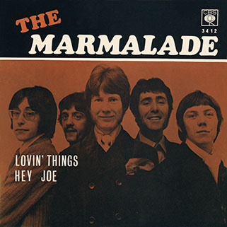 marmalade single cbs norway lovin' things - hey joe front