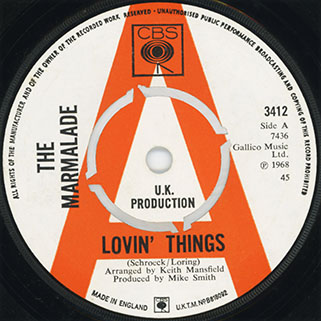 marmalade single promo cbs uk label lovin' things