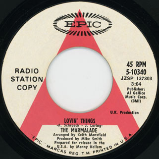 marmalade single promo epic us label lovin'things