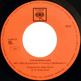 marmalade single cbs spain label hey joe