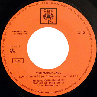 marmalade single cbs spain label lovin' things