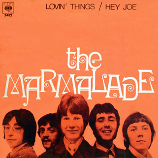 marmalade single cbs spain lovin' things - hey joe front