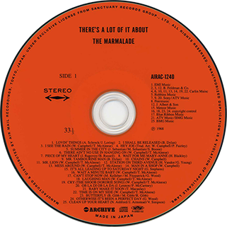 marmalade cd there's a lot of it about air mail archive label
