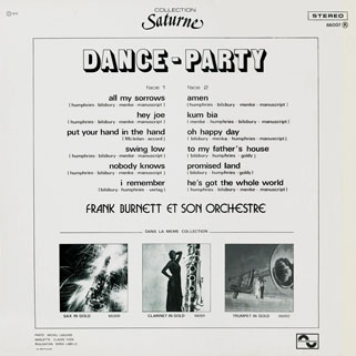 new freedom frank burnet lp dance party back