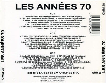 new freedom star system orchestra cd les annees 70 tray