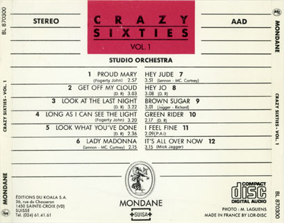 new freedom studio orchestra cd crazy sixties tray