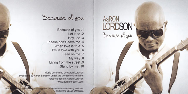 aaron lordson cd because of you cover out