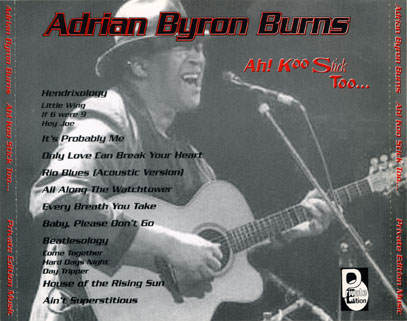 adrian byron burns cd ah koo stick too tray