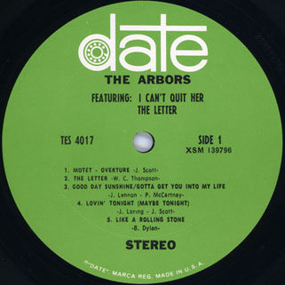 arbors lp I can'quit her  label 1