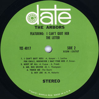 arbors lp I can'quit her label 2