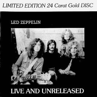 led zeppelin cd live and unreleased